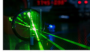 Photonics lab with laser