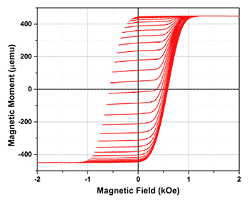 FORC diagram of an array of magnetic nanowires