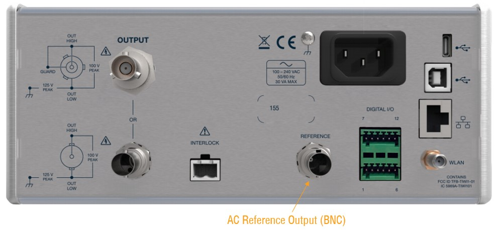 AC Reference Output on 155 Current and Voltage Source