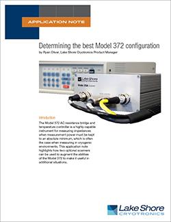 Determining the best Model 372 configuration